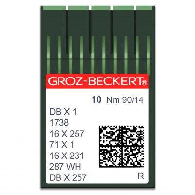 Aiguilles machine à coudre 1738 /16x231 /16x257 - N°90 - 10pcs GROZ BECKERT/SCHMETZ