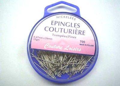 BOITE 25GR EPINGLES NICKELE Accessoires de couture 8964