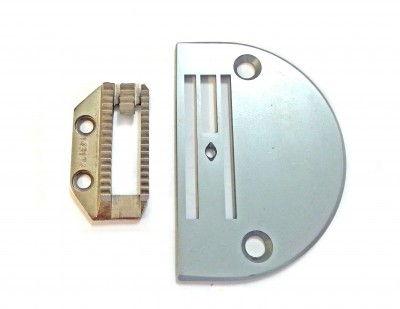 Ensemble plaque et griffe pour matière épais adaptable sur machine à coudre industrielle JUKI , BROTHER, SIRUBA