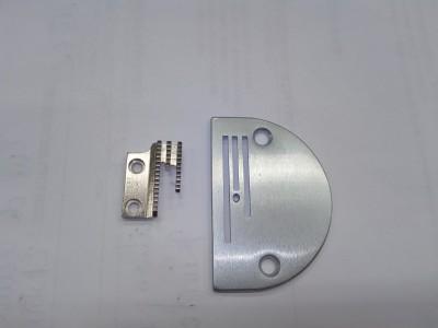 Ensemble plaque et griffe pour machine à coudre industrielle JUKI , BROTHER, SIRUBA